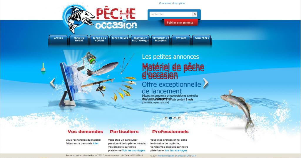 Pêche Occasion plateforme d'annonces en ligne sur les accessoires de pêche d'occasion