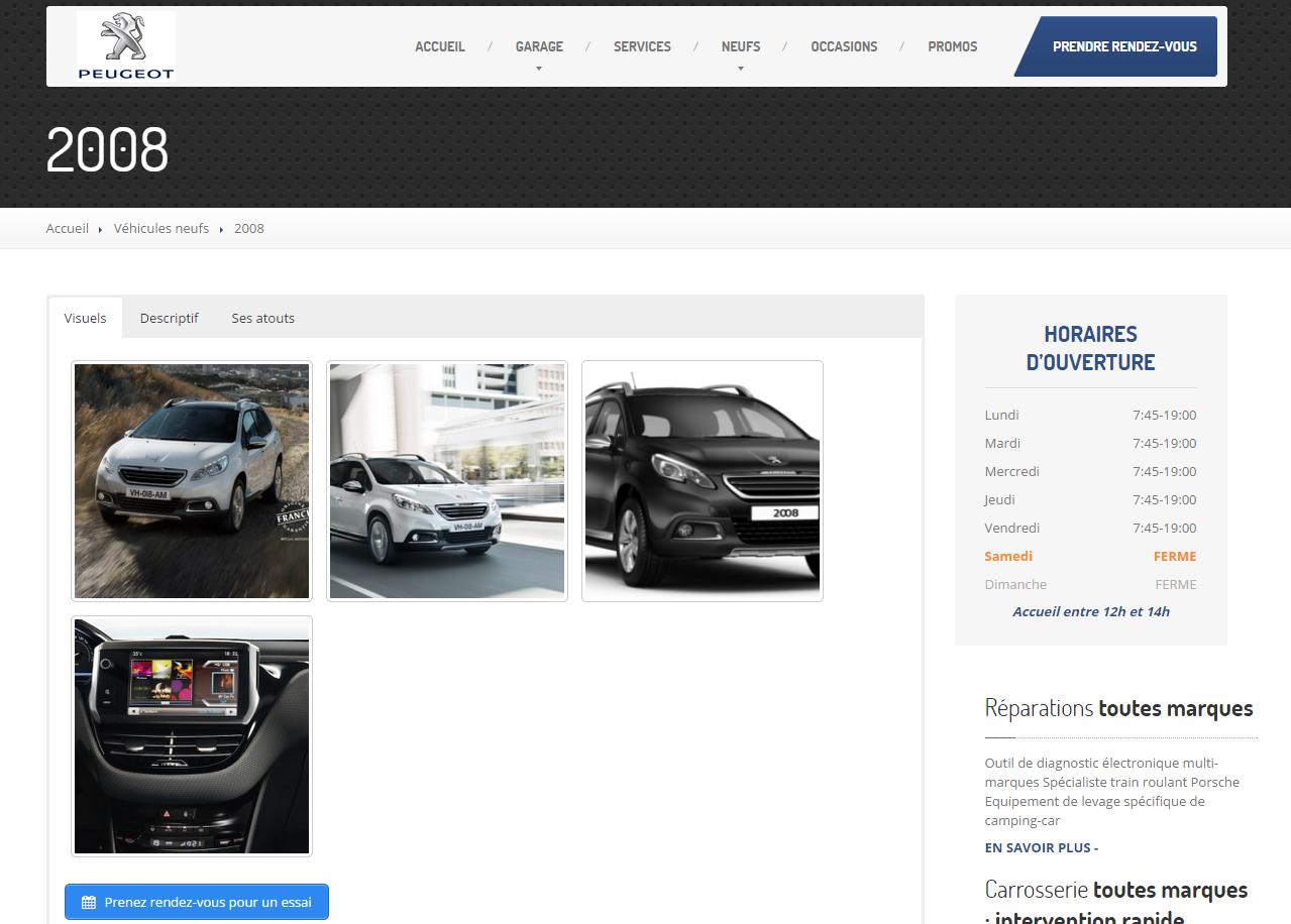 Nouveau site wordpress le garage thorel concessionnaire for Garage peugeot agen